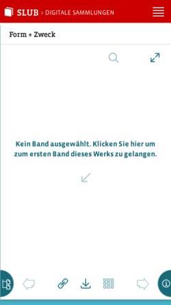 Vorschau der mobilen Webseite digital.slub-dresden.de, Form + zweck