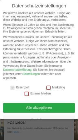 Vorschau der mobilen Webseite lieder-aus-der-ddr.de, Lieder aus der DDR - Peter Pfeiffer