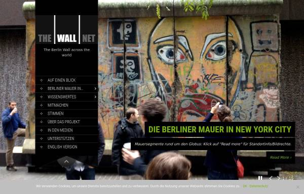 Vorschau von the-wall-net.org, The Wall Net, The Berlin Wall across the world - Rainer Janicki