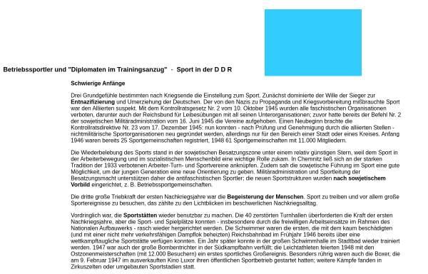 Vorschau von www.schlossbergmuseum.de, Sport in der DDR - Schloßbergmuseum Chemnitz