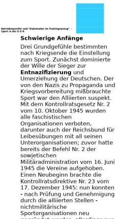 Vorschau der mobilen Webseite www.schlossbergmuseum.de, Sport in der DDR - Schloßbergmuseum Chemnitz