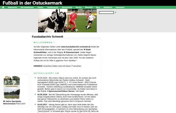 Vorschau von www.fussballarchiv-schwedt.de, Fussballarchiv Schwedt - Dirk Sill