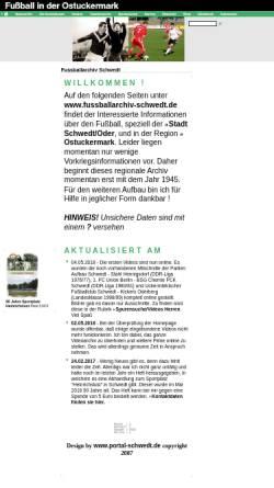 Vorschau der mobilen Webseite www.fussballarchiv-schwedt.de, Fussballarchiv Schwedt - Dirk Sill