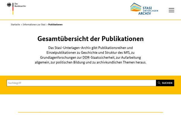 Vorschau von www.bstu.bund.de, Roland Wiedmann, Die Diensteinheiten des MfS 1950–1989. Eine organisatorische Übersicht (MfS-Handbuch)
