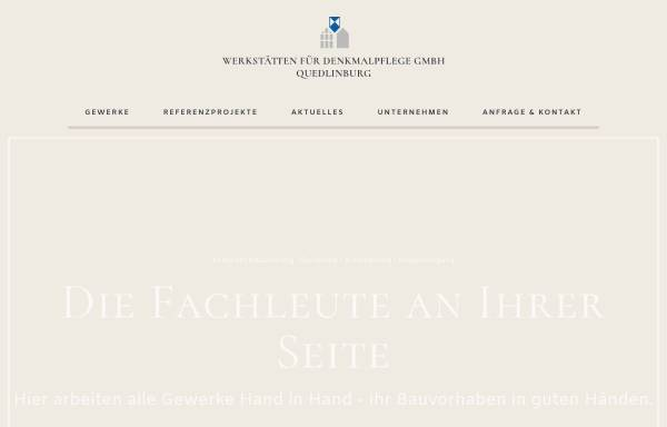 Vorschau von www.denkmalpflege-qlb.de, Werkstätten für Denkmalpflege GmbH