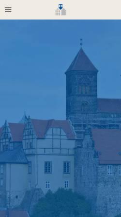 Vorschau der mobilen Webseite www.denkmalpflege-qlb.de, Werkstätten für Denkmalpflege GmbH