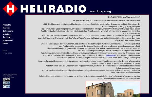 Vorschau von www.heliradio.de, Heliradio - Gerätebau Hempel KG / VEB Gerätebau Limbach
