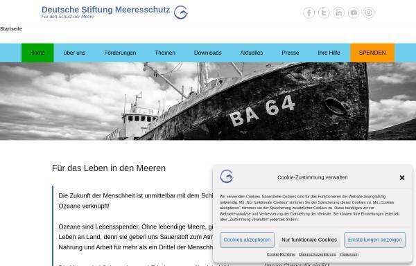 Vorschau von www.stiftung-meeresschutz.org, Deutsche Stiftung Meeresschutz