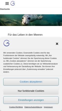 Vorschau der mobilen Webseite www.stiftung-meeresschutz.org, Deutsche Stiftung Meeresschutz