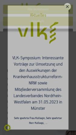 Vorschau der mobilen Webseite www.vlk-online.de, Verband der leitenden Krankenhausärzte Deutschlands e.V.