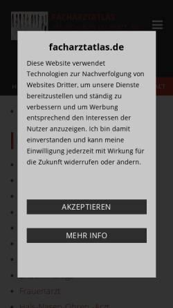 Vorschau der mobilen Webseite www.facharztatlas.de, Facharztatlas