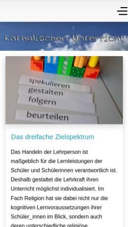 Vorschau der mobilen Webseite katholischer-unterricht.de, Katholischer Religionsunterricht