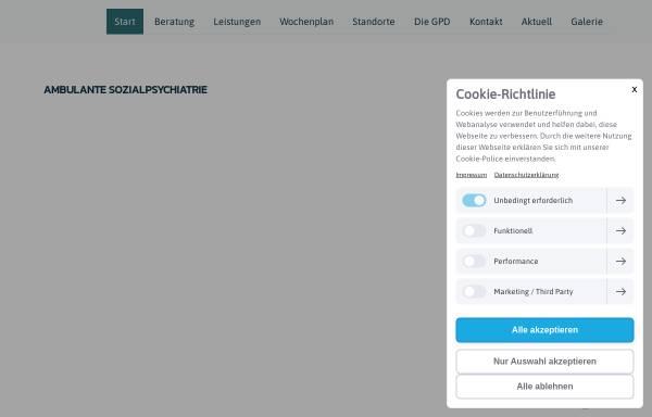 Vorschau von www.gpd-nordost.de, Gemeindepsychiatrische Dienste Hamburg Nordost GmbH