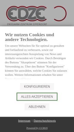 Vorschau der mobilen Webseite www.edze.de, Enddarm-Zentrum Eppendorf