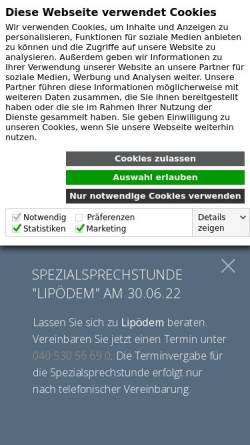 Vorschau der mobilen Webseite hautarzt-dr-schaart.de, Schaart, Frank-Matthias Dr.