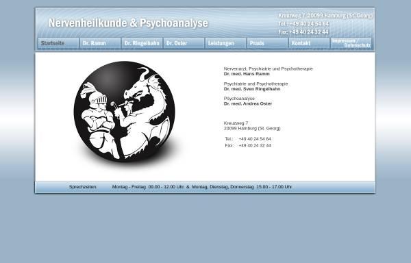 Vorschau von www.nervenarzt-hh.de, Nervenarzt und Psychoanalyse Dr. Ramm und Dr. Oster