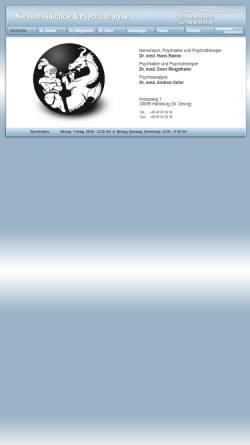 Vorschau der mobilen Webseite www.nervenarzt-hh.de, Nervenarzt und Psychoanalyse Dr. Ramm und Dr. Oster