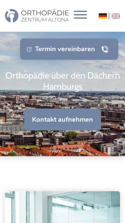 Vorschau der mobilen Webseite www.oz-altona.de, OZA-Orthopädie Zentrum Altona