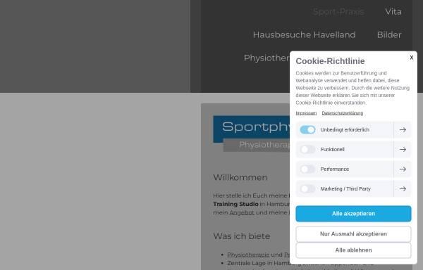 Vorschau von www.sportphysio.hamburg, Sport-Physiotherapie Hamburg