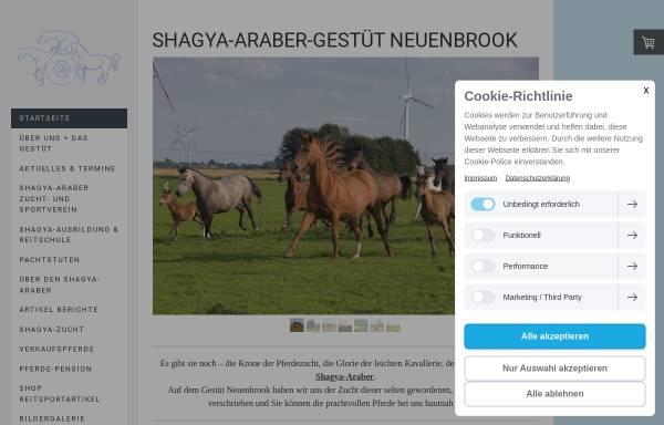 Vorschau von www.shagya-zucht.de, Shagya-Araber Gestüt Klein Wisch
