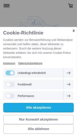 Vorschau der mobilen Webseite www.shagya-zucht.de, Shagya-Araber Gestüt Klein Wisch