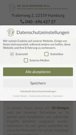 Vorschau der mobilen Webseite www.dr-bonowski.de, Bonowski, Dr. Silke