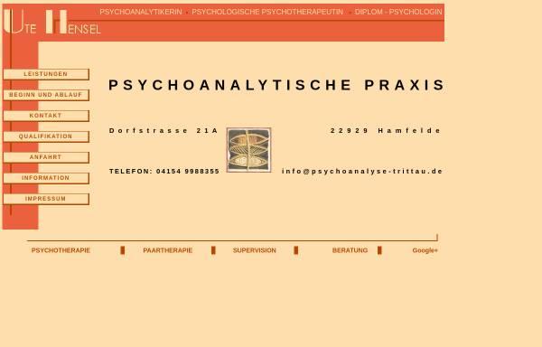 Vorschau von psychoanalyse-hamburg.de, Hensel, Ute