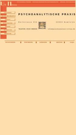 Vorschau der mobilen Webseite psychoanalyse-hamburg.de, Hensel, Ute