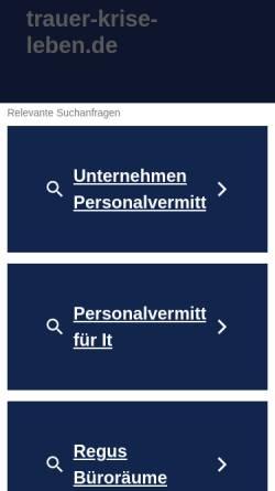 Vorschau der mobilen Webseite trauer-krise-leben.de, Gesprächstherapie bei Krisen und Trauer, Heilpraktiker