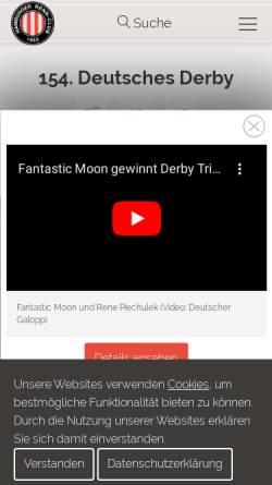 Vorschau der mobilen Webseite www.galopp-hamburg.de, Hamburger Rennclub e.V.