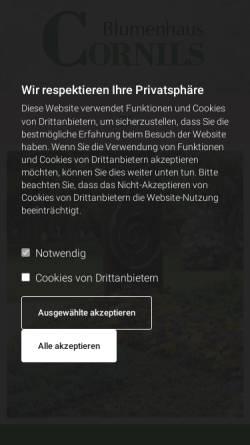 Vorschau der mobilen Webseite blumenhamburg.de, Blumen Floristik und Friedhofsgärtnerei Cornils