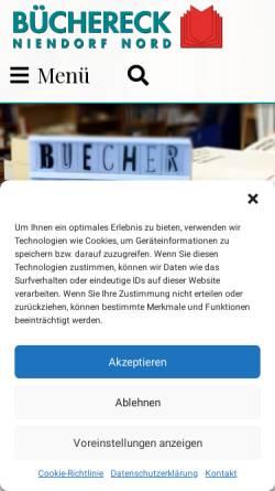 Vorschau der mobilen Webseite buechereckniendorf.de, Büchereck Niendorf Nord