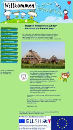 Vorschau der mobilen Webseite www.ferien-am-elbdeich.de, Familie Krey