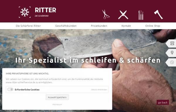 Vorschau von www.ritter-schleifservice.de, Die Schärferei Ritter