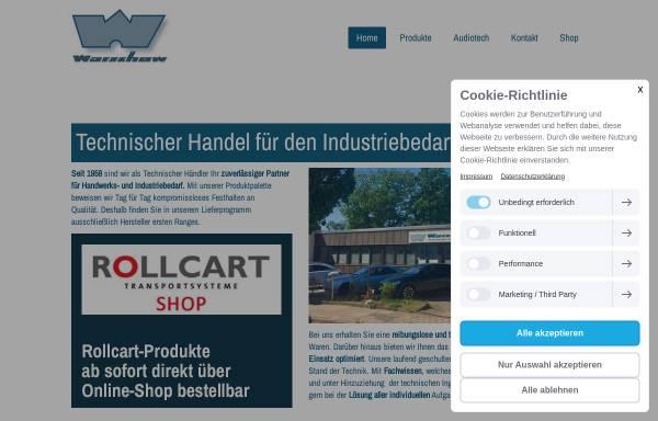 Vorschau von www.warschow.de, Heinz Warschow technischer Handel in Bergedorf