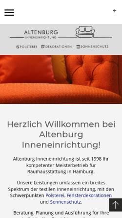 Vorschau der mobilen Webseite www.altenburg-inneneinrichtung.de, Altenburg Inneneinrichtung