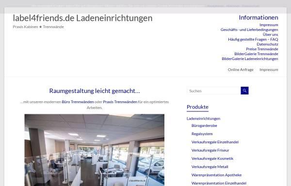 Vorschau von label4friends-ladeneinrichtungen.de, Label4friends Ladenbau