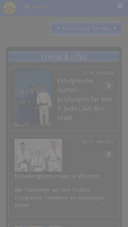 Vorschau der mobilen Webseite www.1jcb.de, 1.Judo Club Bürstadt