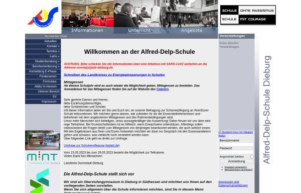 Vorschau von www.ads-dieburg.de, Alfred-Delp-Schule