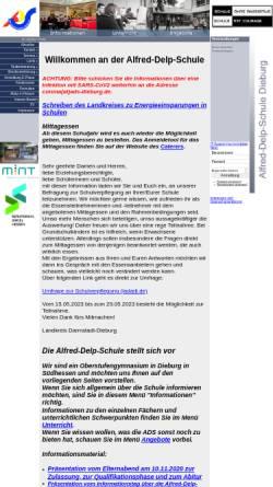 Vorschau der mobilen Webseite www.ads-dieburg.de, Alfred-Delp-Schule
