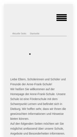 Vorschau der mobilen Webseite www.annefrankschule-dieburg.de, Anne-Frank-Schule