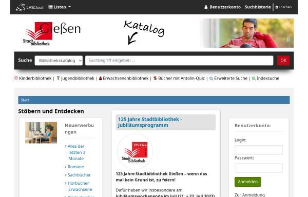 Vorschau von www.stadtbibliothek.giessen.de, Stadtbibliothek Gießen