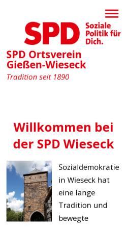Vorschau der mobilen Webseite www.wieseck-spd.de, SPD-Ortsverein Wieseck