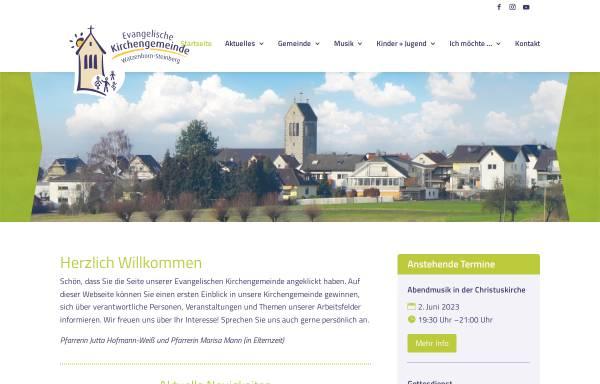 Vorschau von www.christuskirche-pohlheim.de, Evangelische Kirchengemeinde Watzenborn-Steinberg