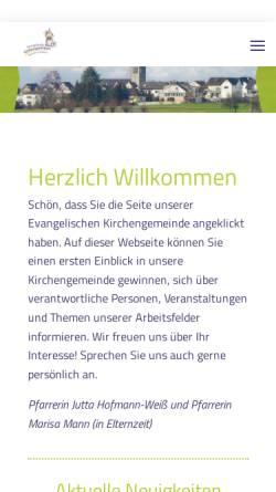 Vorschau der mobilen Webseite www.christuskirche-pohlheim.de, Evangelische Kirchengemeinde Watzenborn-Steinberg
