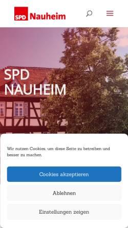 Vorschau der mobilen Webseite spd-nauheim.de, SPD Nauheim