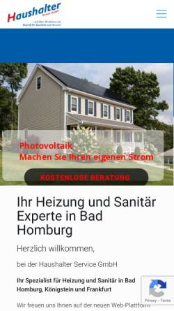 Vorschau der mobilen Webseite www.haushalter-service-gmbh.com, Haushalter Service GmbH