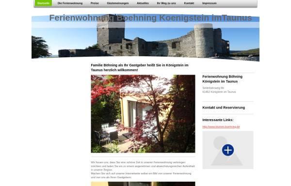 Vorschau von www.ferienwohnung-boehning-koenigstein.de, Ferienwohnung Böhning