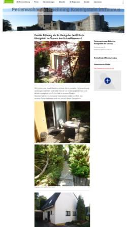 Vorschau der mobilen Webseite www.ferienwohnung-boehning-koenigstein.de, Ferienwohnung Böhning