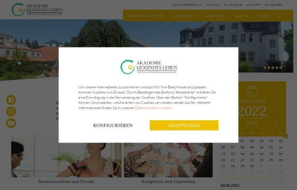 Vorschau von www.akademie-gesundes-leben.de, Akademie Gesundes Leben in der Stiftung Reformhaus-Fachakademie